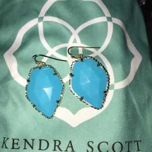 Perfect condition blue Kendra Scott earrings